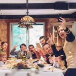 Social Host Liability- Family & Friends celebrating around a dining table